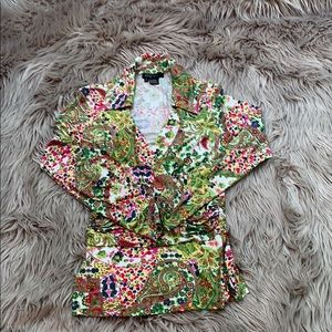 Beautiful Etcetera Blouse with Flowers